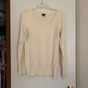 Ivory Scoop Neck Sweater